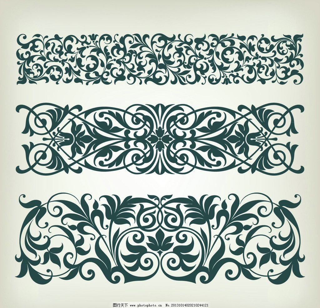 欧式花纹 欧式 古典 复古