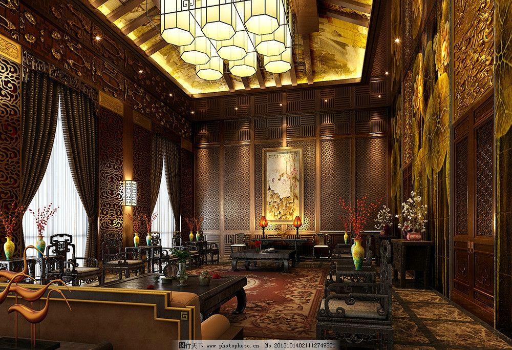 餐厅 大厅 中式 接待处 欧式 现代 北欧 简欧 室内模型 3d设计模