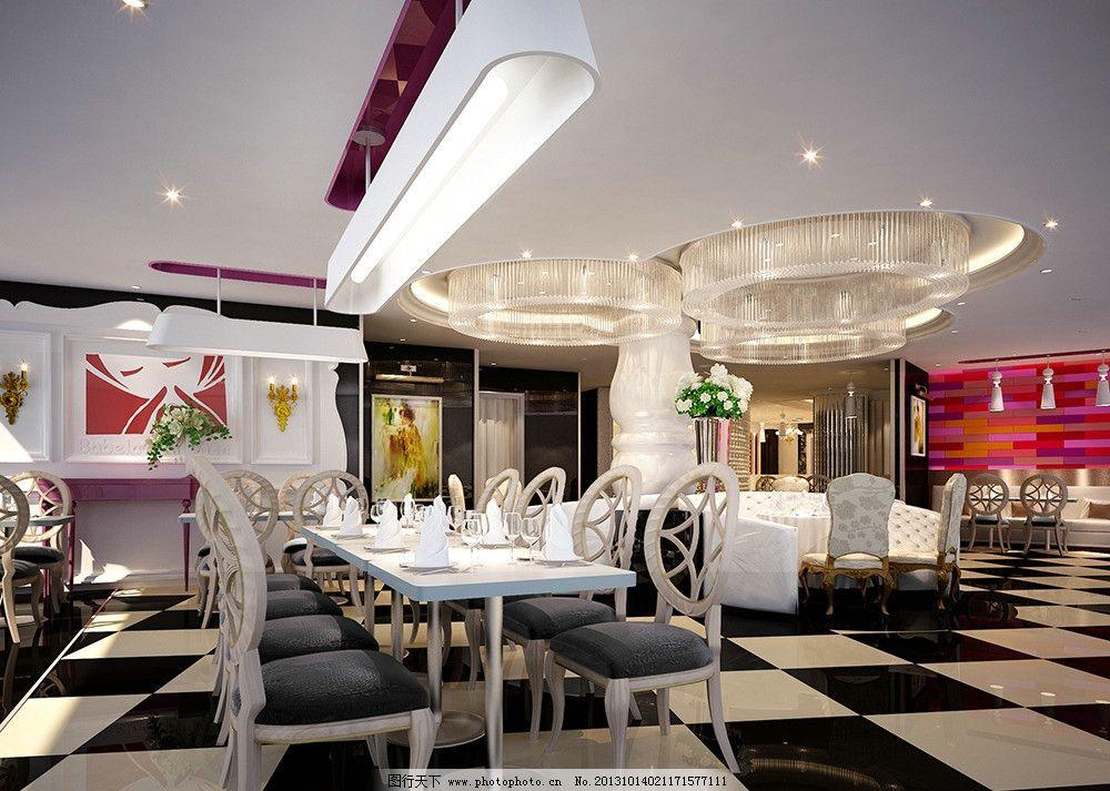 餐厅      大厅 中式 接待处 欧式 现代 北欧 简欧 皇家 室内模型 3d
