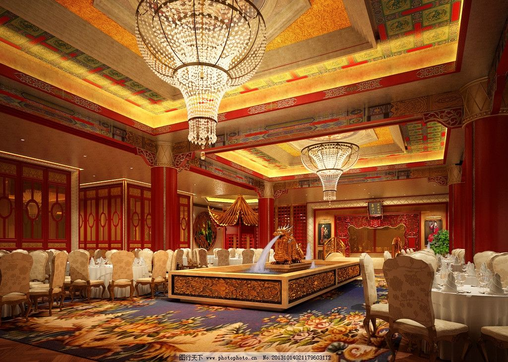 大厅 餐厅      中式 接待处 欧式 现代 北欧 简欧 皇家 室内模型 3d