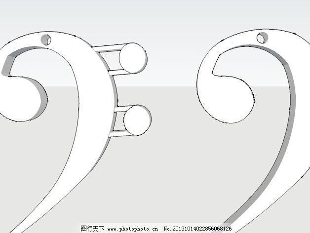低音谱号耳环
