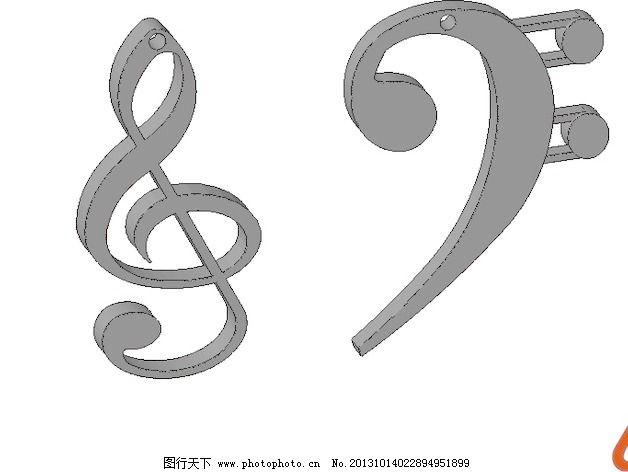 高音和低音谱号耳环