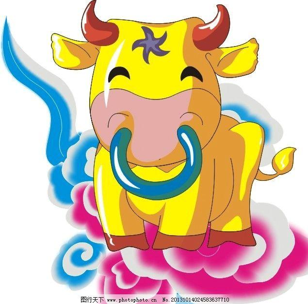 十二生肖图 牛 十二生肖    动物 牛年 家禽家畜 生物世界 矢量 cdr