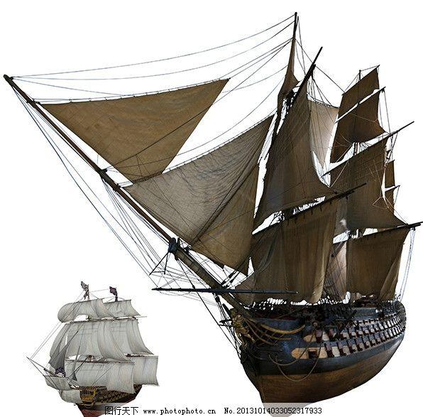 古代帆船素材图片