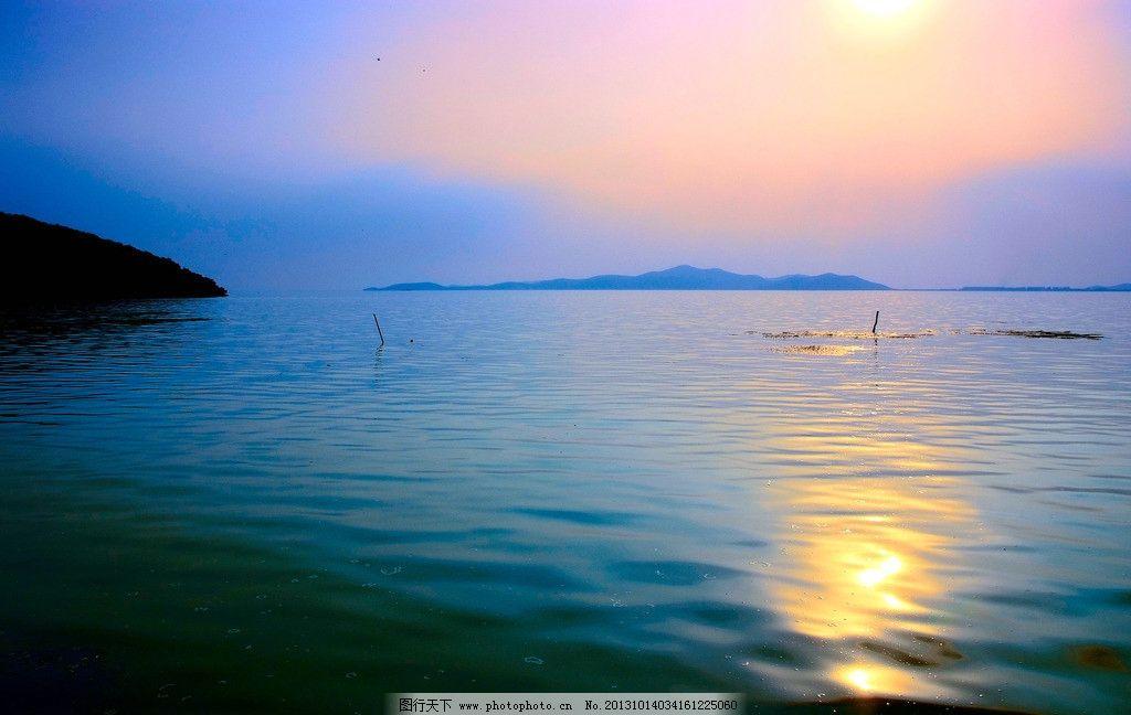 湖景 太湖 夕阳 湖水 水色 风光摄影 自然风景 旅游摄影 摄影 300dpi