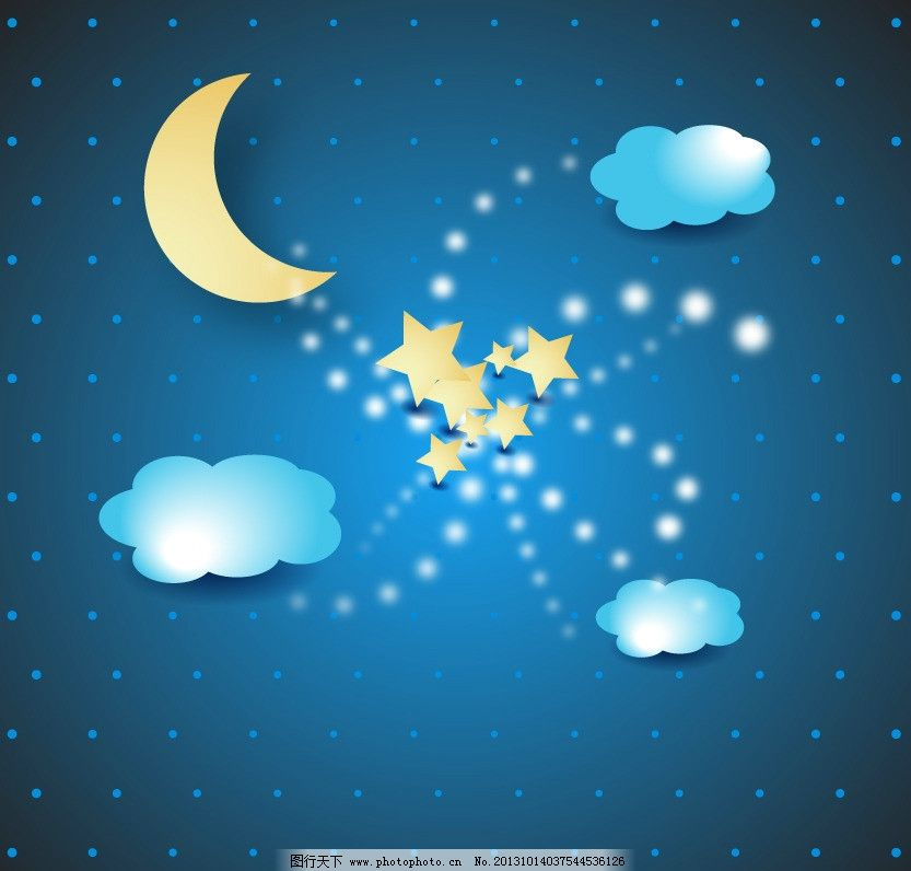 夜晚星空图图片