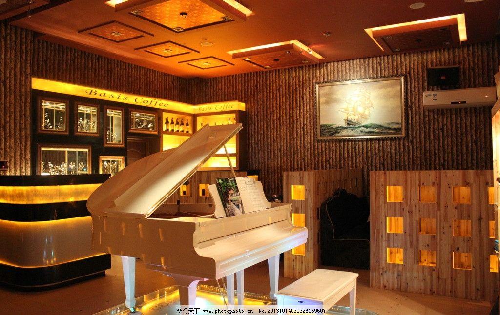 室内空间设计 室内空间 室内效果图 店面布置 摆设 室内装潢 钢琴