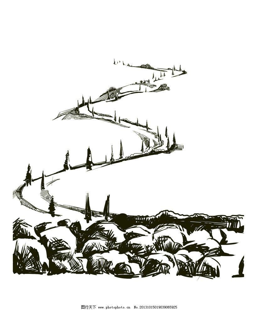 速写 山景 环境 山水速写 场景速写 绘画书法 文化艺术 设计 256dpi