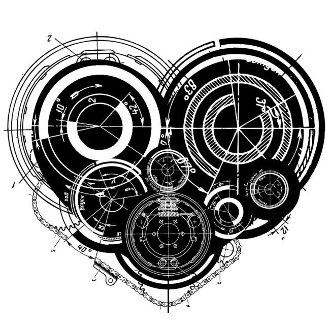 机械科技背景素材免费下载 背景 黑白 机械 科技 机械 科技 圆 黑白