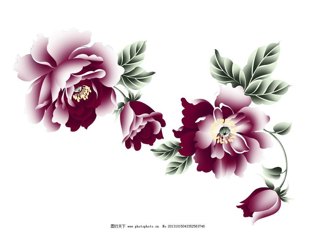 手绘花模板下载 电脑手绘花 韩国花 花纹 底纹 装饰花 印花 小花 大花