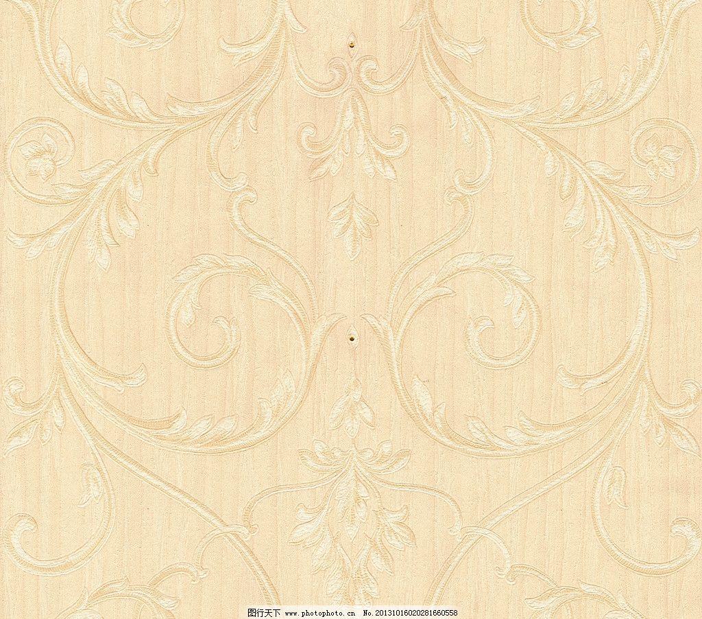 现代花纹壁纸 黄色 背景 纹理 贴图图片