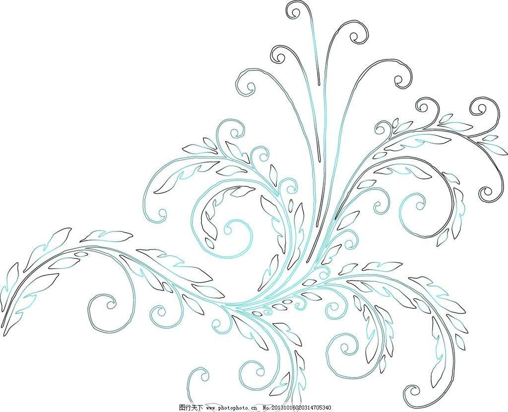 欧式藤蔓花边边框简笔画