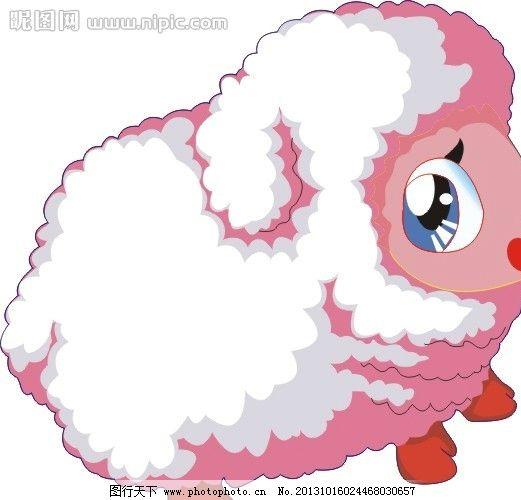 十二生肖图 羊 卡通 动画 猪年 野生动物 生物世界 矢量 cdr