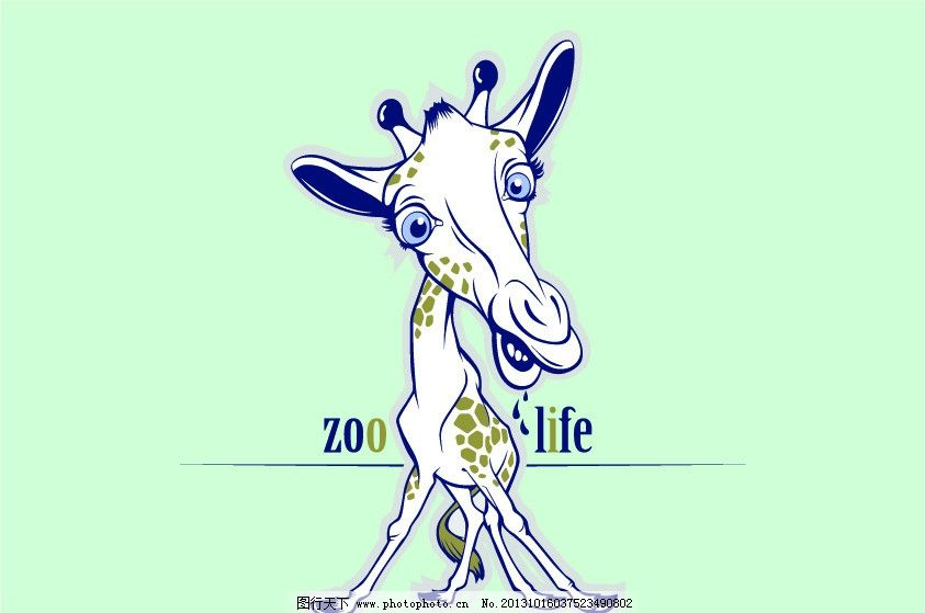 小鹿 可爱的鹿 卡通动物 时尚插画 卡通画 卡通背景 卡通插画 矢量