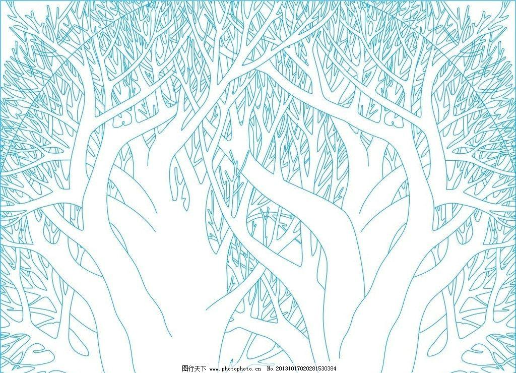 艺术玻璃 背景 隔断 失量图 浮雕 抽象树 2013精品艺术玻璃图案 底纹