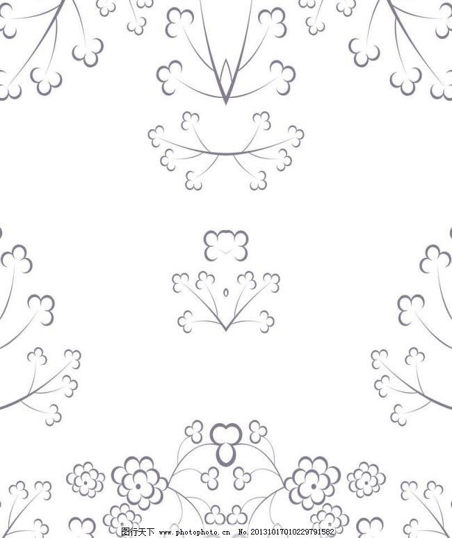 花朵移门 白色 背景 背景底纹 单色花纹 底纹边框 黑色 花朵移门设计
