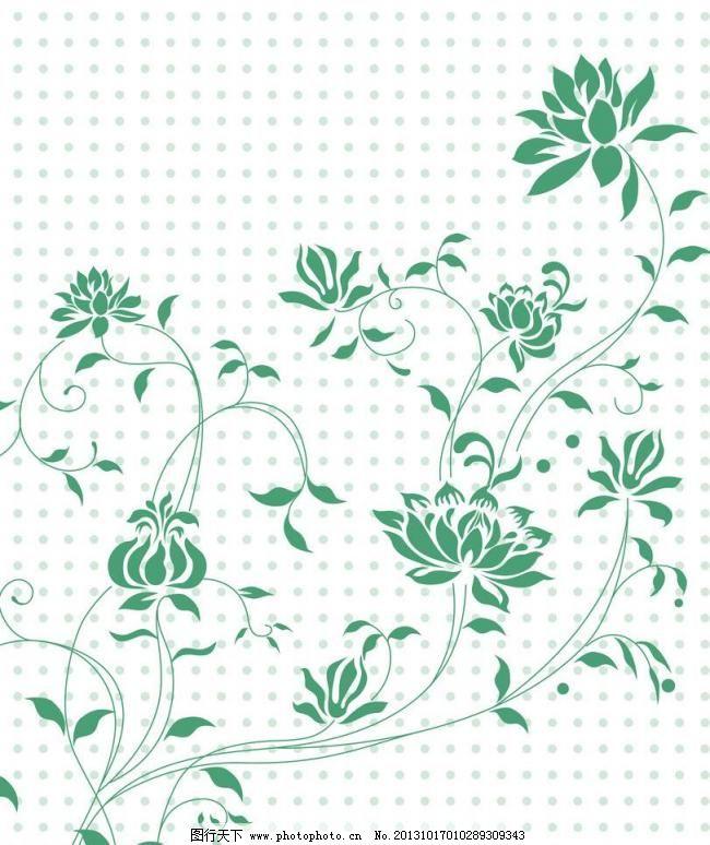 花朵移门 背景 背景底纹 底纹边框 点点 花朵移门模板下载 绿色