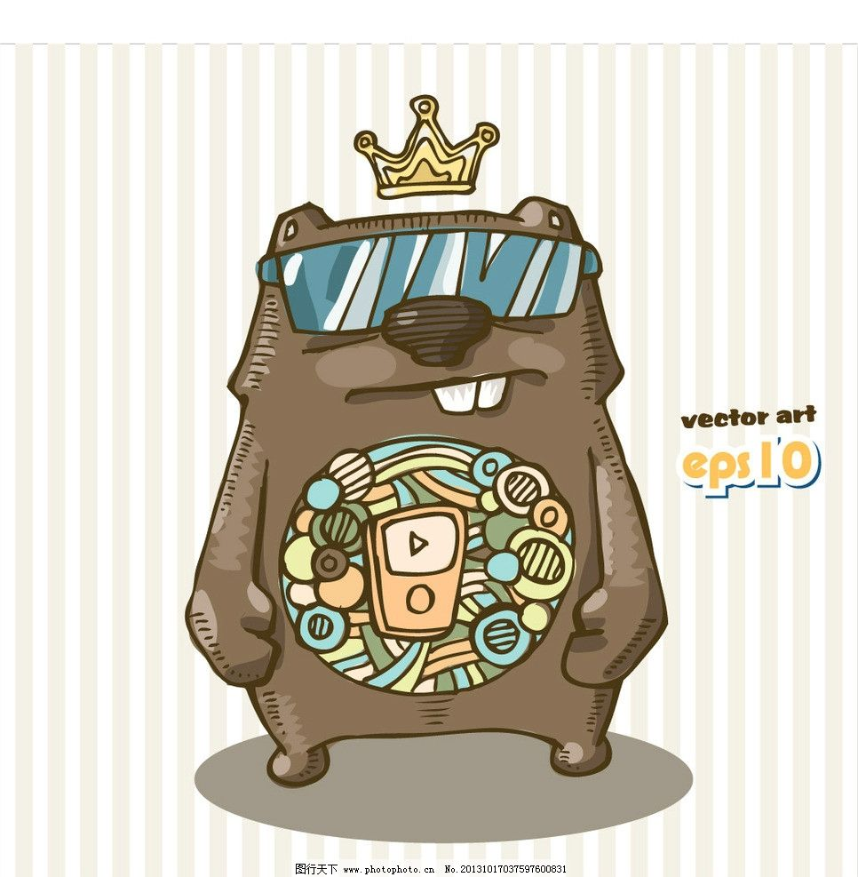 怪兽 基因突变 怪物 机器人 儿童 卡通插画 创意设计 时尚 印花 图案