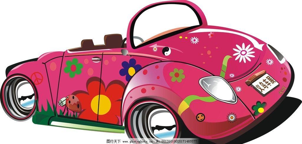 卡通车 卡通素材下载 卡通模板下载 卡通 车 保时捷 跑车 车展 轮子