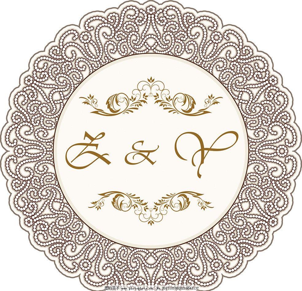 欧式边框 欧式 浪漫 边框 logo 咖啡金 唯美 字母 底纹背景 底纹边框