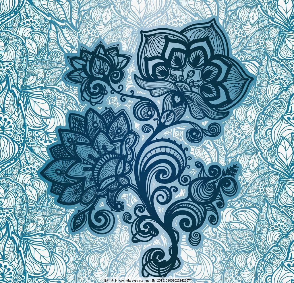 时尚欧式花纹 雪花 欧式花纹标签 欧式 手绘花卉 手绘花纹 古典 彩色