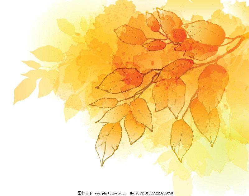 枫叶背景 风景 自然 落叶 手绘树叶 秋色 秋天 秋季 树叶背景