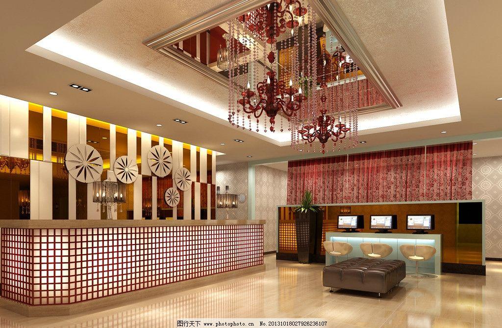 室内效果图        室内 大厅 柜台 灯 室内设计 环境设计 设计 300