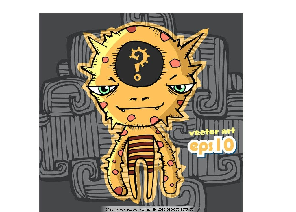 怪兽图片,怪物 机器人 儿童 卡通插画 创意设计 时尚