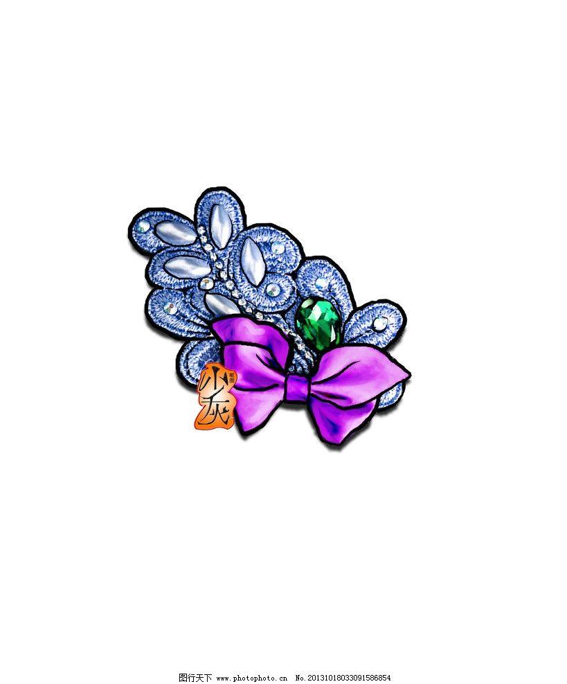 蝴蝶结头饰图片