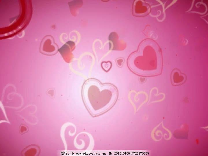 粉色心形图案背景视频