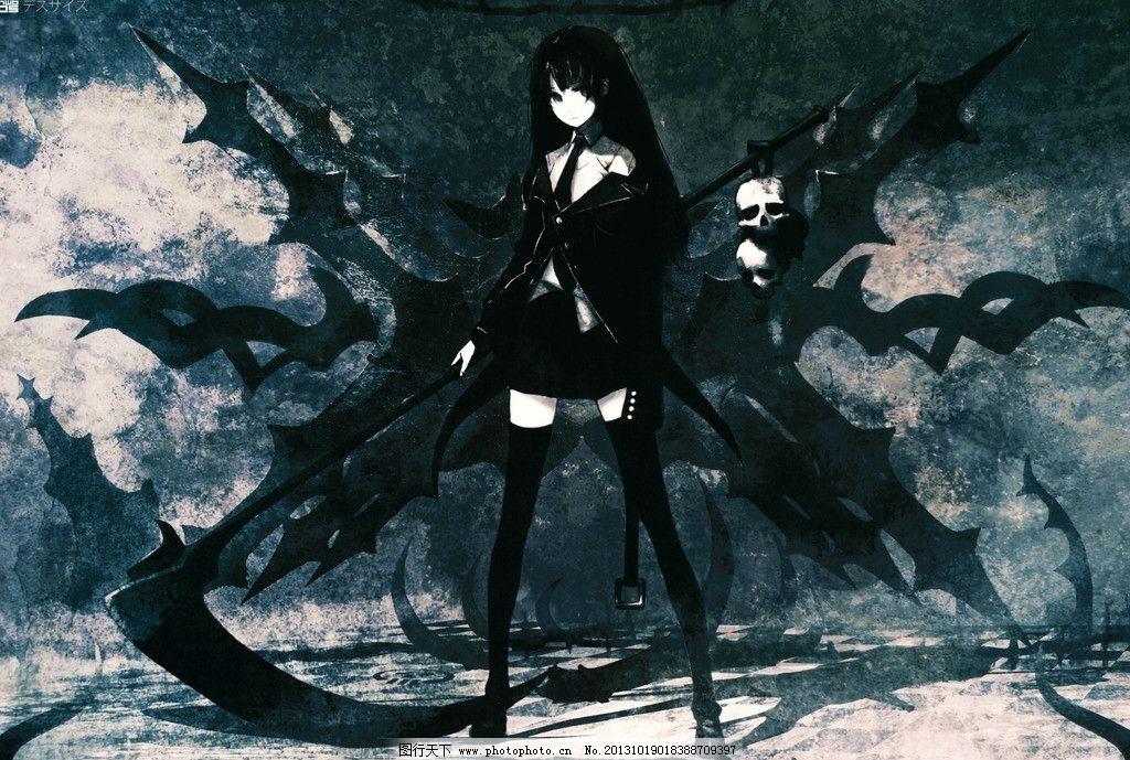 动漫美女素材 美女 动漫壁纸 死神 动漫人物设计 美少女 壁纸 暗黑系