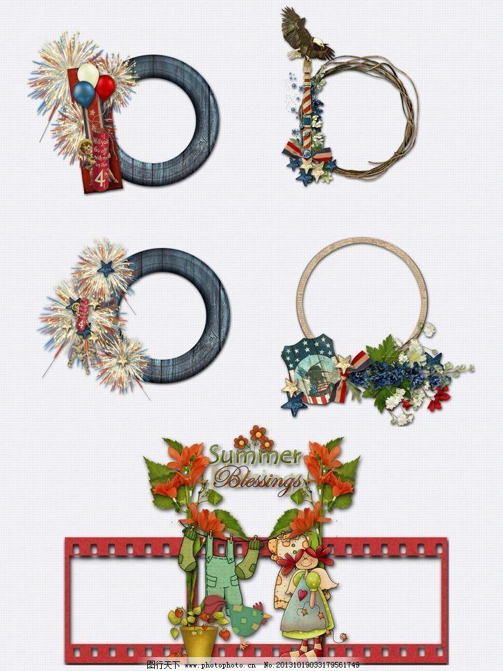 相框组合图片,花朵 可爱 木质 饰品 唯美 喜庆 相框