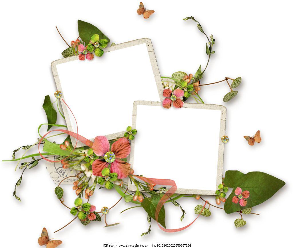 花朵相框 布艺相框 布艺 创意 相框 底纹 边框 底纹边框 手绘设计