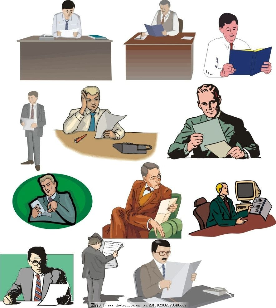 线条 儿童素材 场景漫画 手绘图 动漫设计 水彩画 男人 绅士 西装革履