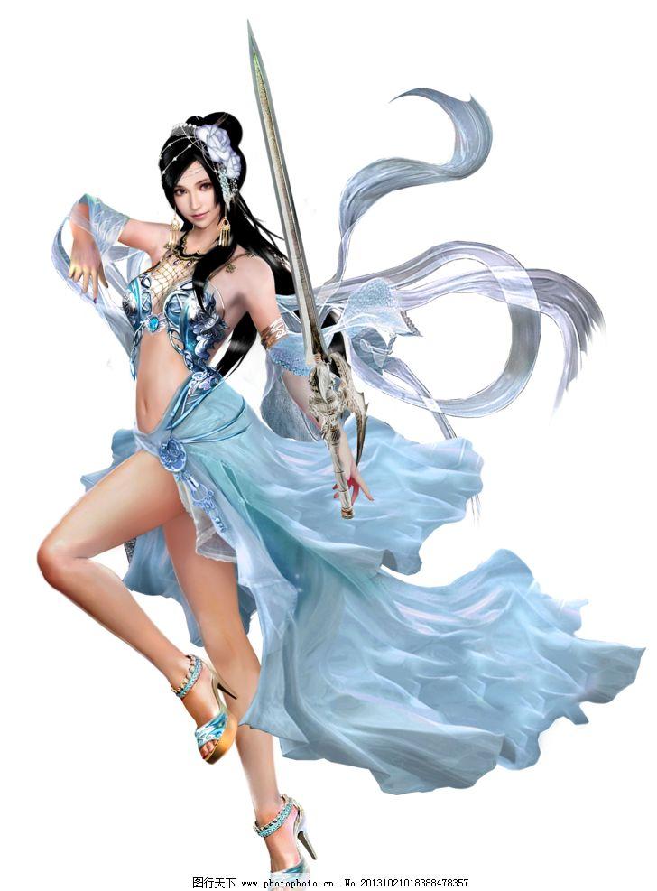 女剑士 游戏美女 游戏人物 游戏原画 游戏人物素材 美女 女剑侠 仙侠