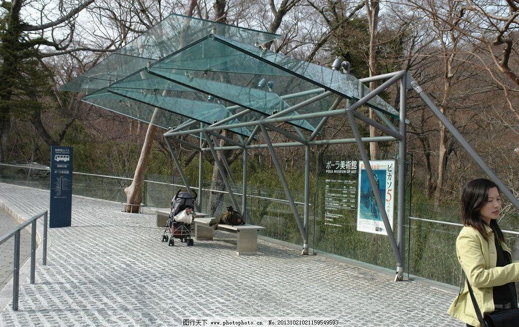 公交车站图片