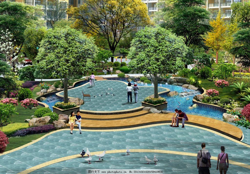 景观效果图 小区内庭 广场 景观        局部景观效果图 景观设计