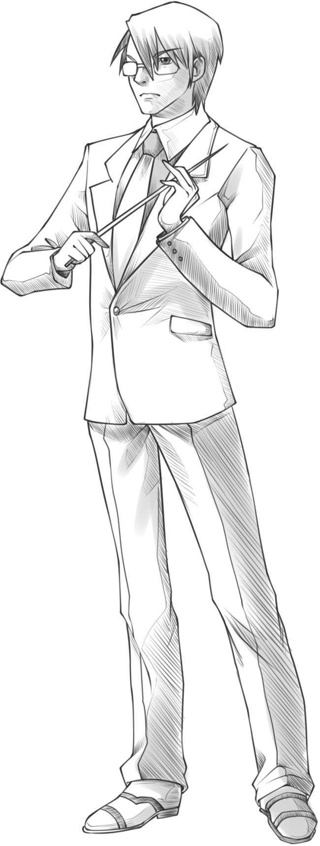 西装眼镜男教师 西装眼镜男教师免费下载 动漫素材 临摹 手绘素材