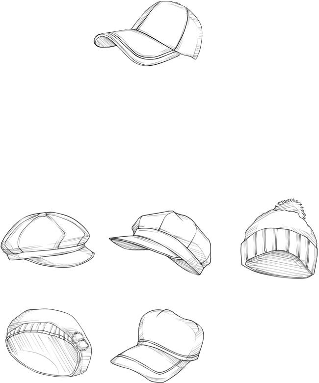 帽子简笔画 可爱