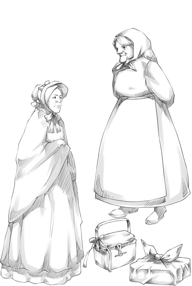 女巫老妪免费下载 动漫素材 临摹 手绘素材 线稿 线描 线描稿 线描