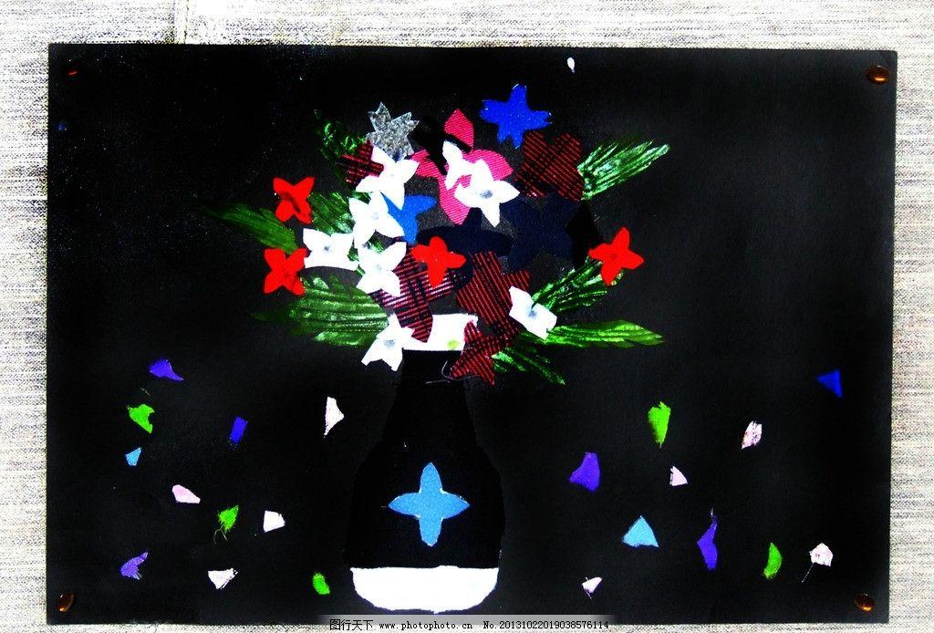 学生布粘贴画作品图片