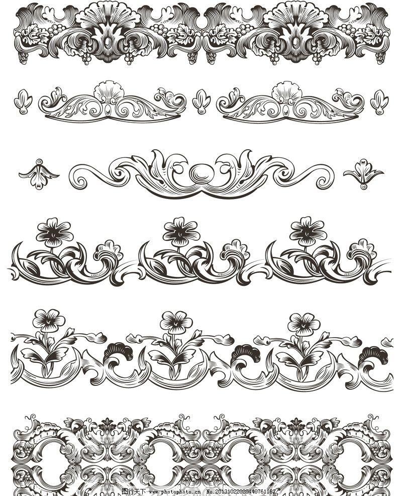 欧式花纹 欧式 古典 复古 花纹 花边 卡片 传统花纹 装饰花纹 婚纱