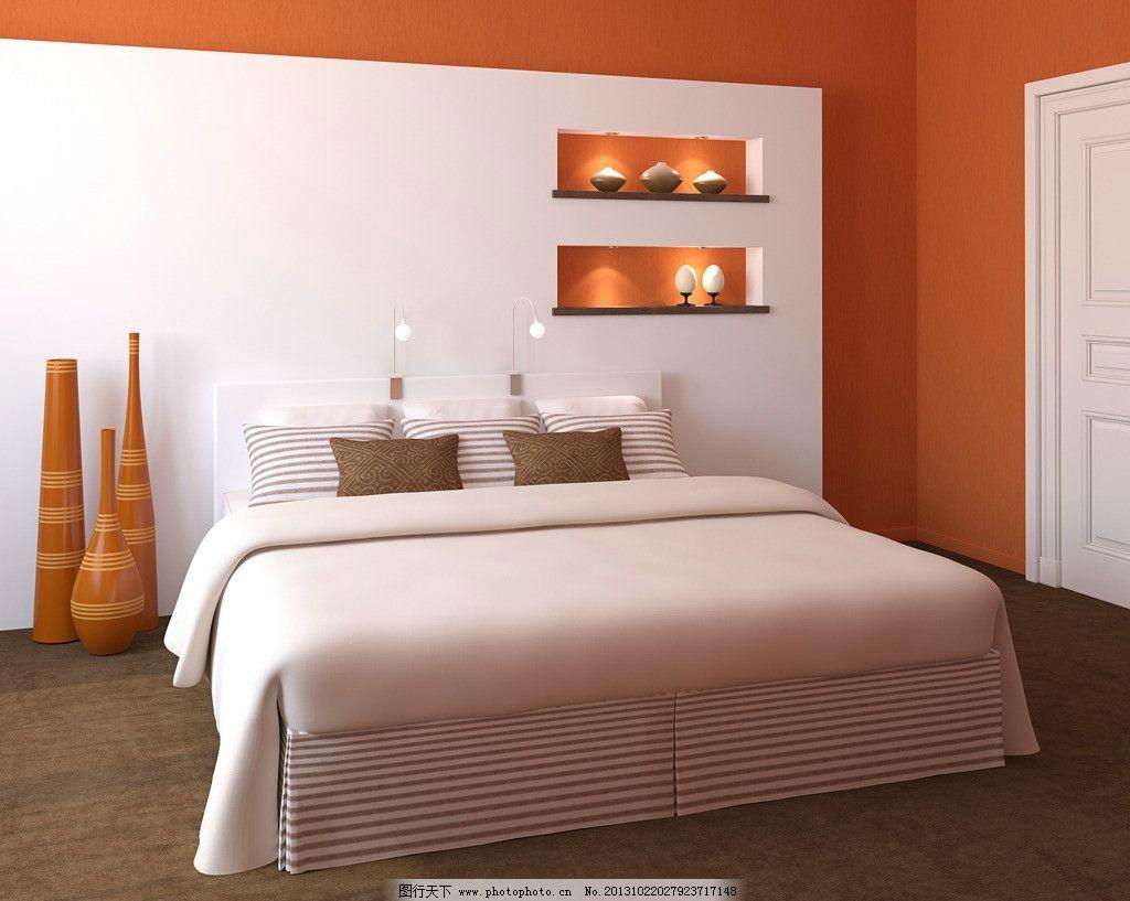 室内效果图 床 寝室 装饰效果图 卧室 家具 家具用品 室内设计高清