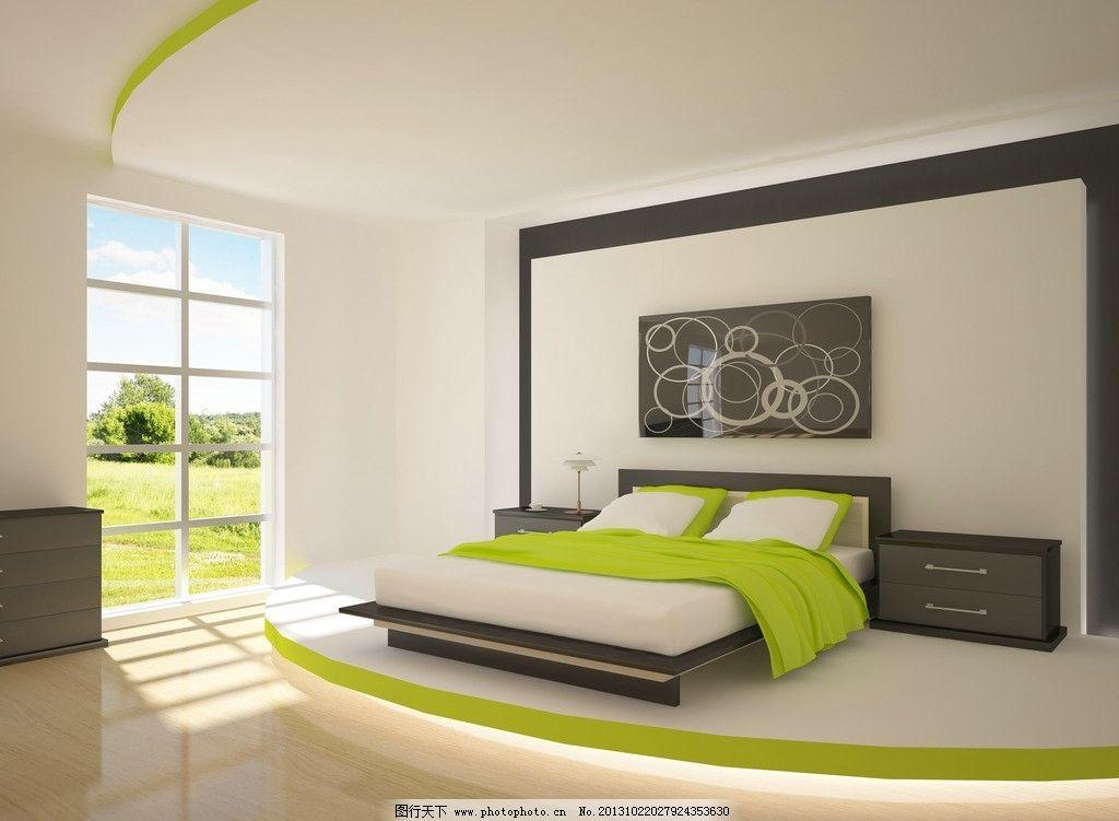 室内设计 床 寝室 室内效果图 装饰效果图 卧室 家具 家具用品