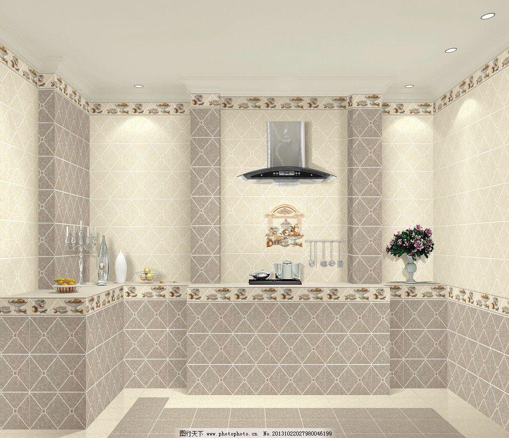 仿古砖效果图 室内效果图 陶瓷效果图 瓷砖 灯 饰品 室内设计