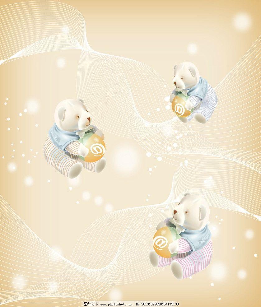 卡通移门 卡通 泰迪熊 线条 花朵 花纹 移门图案 广告设计模板 源文件