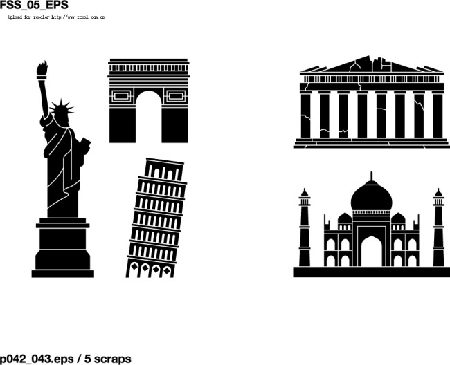 世界各地著名建筑图标