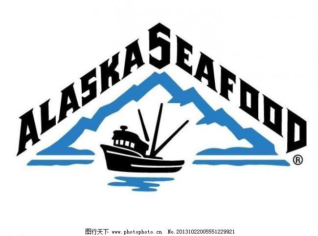 其他  ai 标记 标识标志图标 冰山 企业logo标志 渔船 阿拉斯加水产图片