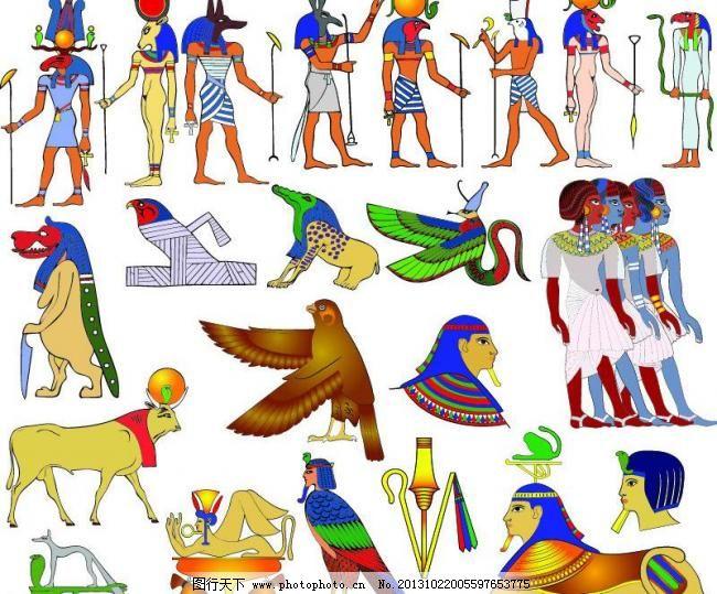 埃及金字塔法老图图片