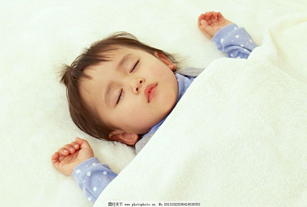 熟睡的宝宝 可爱的宝宝 幼儿 娃娃 孩子百天宝宝 百天照 婴儿